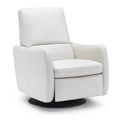 Gianni Reclining Chair - Elegant, modern reclining chair in Italian white leather.