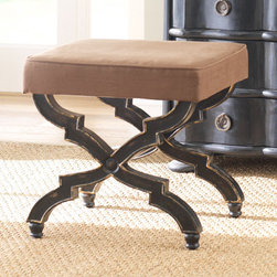 X-Base Stool — Brown - Not the typical x-bench, the details of this piece really make it stand out from the crowd.