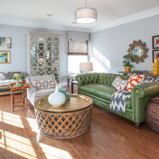 Transitional Living Room by Lucy and Company
