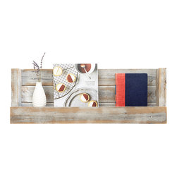 (del)Hutson Designs - Refined Texas-Barnwood Shelves - White Wash - This wall shelf brings style and originality to any home. The reclaimed wood not only saves a tree but also adds texture and beauty to your walls. We lightly sand the the wood to bring out the lighter undertones