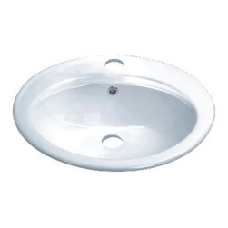 "TCS Home Supplies - Porcelain Ceramic Vanity Drop in Bathroom Vessel Sink - 22-1/4 x 19 x 8 Inch - Drop In Bathroom Vessel Sink. Porcelain Ceramic. Dimensions 22-1/4"" x 19"" x 8 ""."