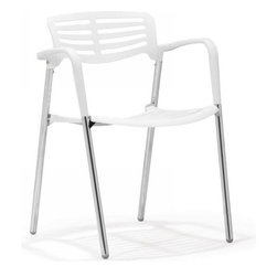 ZUO Modern - Scope Dining Chair in White (Set of 4 ) - 500163 - Scope Collection Dining Chair