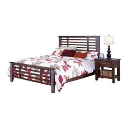 Home Styles - Home Styles Cabin Creek 3 Piece Bedroom Set in Chestnut Finish-Queen - Home Styles - Bedroom Sets - 54115019 - Our Cabin Creek collection conveys a reclaimed wood vintage feel.  Each piece is physically distressed by hand providing a unique one of a kind look.  The Cabin Creek Bed Set by Home Styles are constructed of mahogany solids and veneers in a multi-step chestnut finish. Set include: One (1) Bed One (1) Nightstand and One (1) Chest