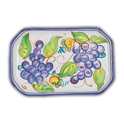Ceramic - Bellarte Uva Small Rectangular Tray - Bellarte Uva Small Rectangular Tray
