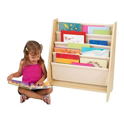 KidKraft - KidKraft 4 Shelf Natural Book Sling Bookshelf Multicolor - 14221 - Shop for Childrens Bookcases from Hayneedle.com! Turn the bedroom into a child-friendly library with the KidKraft 4 Shelf Natural Book Sling Bookshelf. This piece is sized just right for kids and allows them to see the covers of their favorite stories. After all kids CAN judge a book by its cover. Some assembly required; ships with all necessary fasteners and easy-to-follow instructions. Includes 90-day manufacturer's warranty.