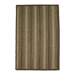 Homespice - Homespice Sandy Ridge Braided Rectangle Rug - Bring a touch of nature indoors with this earthy pairing of warm brown, basil, burnt olive, cream and gold. There is no need to compromise beauty for durability. Our Ultra Durable indoor/outdoor rugs are amazing. They resist stains from food, pets, and liquids, while adding color, texture and interest to all your living spaces. This amazing absorbent material leaves the surface below dry with most moderate spills. To clean, simply run under water in your sink or use a hose. These Ultra Durables are thinner and flatter and feature a vertical braid with anti-skid backing. Perfect for kitchens, baths, and entry ways.