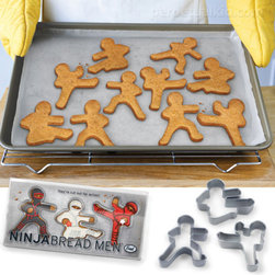 Ninjabread Men Cookie Cutters - Hii-yaaa! Bring these Ninjabread Men to your cookie swap and watch them dropkick all the other cookies.