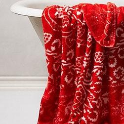 "Fresco Towels - Ruby Damask Towel - By Fresco TowelsCottonMachine washWashcloth: 12"" squareHand towel: 39""L, 20""WBath towel: 55""L, 37.5""WUSA"