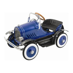 Kalee - Kalee Deluxe Roadster Pedal Riding Toy - Blue - KL-20236 - Shop for Tricycles and Riding Toys from Hayneedle.com! Hot Wheels are great but the Kalee Deluxe Roadster Pedal Car Riding Toy - Blue can't be beat. Your little driver will enjoy cruising with his friends on this vintage roadster. Classic detailing designs and a glossy blue finish make this pedal-powered riding toy turn heads as your child cruises down the street. This deluxe roadster comes complete with working headlights adjustable windshield and even a spare wheel. Minor adult assembly required. Recommended for ages 3 and up. Weighs 41 pounds. Dimensions: 38L x 23W x 17H inches.About Big Toys USABig Toys USA is an exclusive U.S. distributor for high-quality ride-on toys from Spain Germany China and Italy along with a complete line of American-made rideable toys. Big Toys represents Fisher Price Power Wheels Big Injusa Kid Trax Mini Motos Feber NPL Evo Powerboards and Toys Toys. Big Toys focuses on quality safety value and most of all Big Fun.