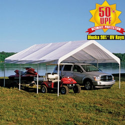 ShelterLogic - ShelterLogic Canopy Replacement Cover for 2 in. Frame Multicolor - 10159 - Shop for Sheds & Storage - Accessories from Hayneedle.com! Super Max 18 ft. x 20ft Premium Canopy Replacement cover is the ready to install canopy top. Designed to exact frame specifications of the 18 ft. x 20 ft. Super Max Canopy the cover attaches quick and easy in less than 15 minutes. Don't settle for cheap tarps or aftermarket covers to replace your canopy cover. Insist on authentic ShelterLogic brand canopy covers. Constructed of the same quality materials and workmanship of our original canopy. Perfect for refurbishing worn out or damaged canopy covers.
