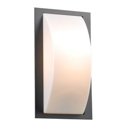 Breda One-Light Fluorescent Bronze Outdoor Wall Light
