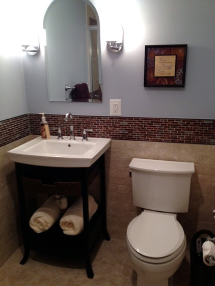 Transitional bathroom by lynn madyson asid ifda nkba for How much to redo a small bathroom