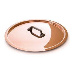 "Mauviel - Mauviel M'heritage Copper & Stainless Steel Lid, Cast Iron Handle, 5.5"" - Bilaminated copper stainless steel (90% copper and 10% 18/10 stainless steel)"