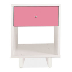 Moda One-Drawer Nightstand - The simple, modern shape of these bedside tables from Room & Board are all business, but the cotton candy–pink drawer front is pure fun.