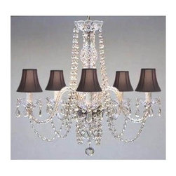 Gallery - Gallery T40-132 Authentic 5 Light 1 Tier Crystal Chandelier - Features: