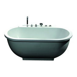 Ariel - Ariel Platinum AM128 Whirlpool Bathtub 71x37.4x27.5 - Take a dip in this elegant whirlpool bathtub. Equipped with hydro-massage jets designed to target your pressure points for a relaxing experience. Dimensions:  71 x 37.4 x 27.5, ETL listed (US & Canada electrical safety) 220v, Whirlpool massage jets (1.5 HP pump / 14 jets), 14 Whirlpool Massage Jets  Hydro-massage system, Chromatherapy Lighting to Set the Mood, Ozone disinfecting cleaning system, Auto pipe cleaning, Handheld showerhead, FM Radio for Easy Listening , 60 Minute Auto Shutdown Function, Gallons: 91