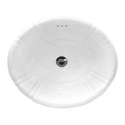 "TCS Home Supplies - Sea Shell Porcelain Ceramic Vanity Drop in Bathroom Vessel Sink - Sea Shell Design. Drop In Bathroom Vessel Sink. Porcelain Ceramic. Overall Dimensions 18"" x 15-1/2"" x 6-1/4""."