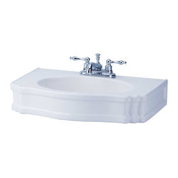 Renovators Supply - Sink Parts White China Chesterton China Sink Basin ONLY - Pedestal sinks bestow the charm and grace of a bygone era wherever they reside. Breathe inspiration and romance into your bathroom! Matching pedestal #13853.