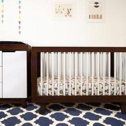 Babyletto - Babyletto Hudson Espresso/White 3-in-1 Convertible Crib - I love this contemporary crib with some multicolor dimension.