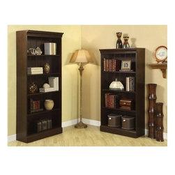 Riverside Furniture - Urban Crossings 2-Piece Bookcase in Espresso Finish - Includes 60 in. and 72 in. bookcases