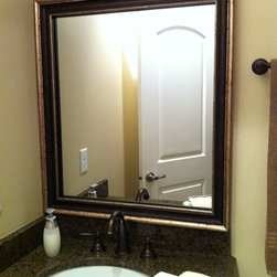 Mirror Frame Kit - Mirror frame kit for modern & traditional spaces.  This frame adheres to your existing mirror - changing the look instantly.  Prices start at $90.00