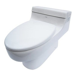 Eago Ultra Low Flush Elongated Toilet - The Eago Ultra Low Flush Elongated Toilet provides a wide water surface that keeps odors down and makes cleaning easier. The elongated design is also comfier and the single piece, European aesthetic will look marvelous in your bathroom. Besides its good looks, this Eago toilet also features a Siphon Flush System with an all-new tower based mechanism so that there's no worry of a chain snapping or a flapper only closing partially. Fully glazed both inside and out, the Eago Ultra Low Flush Elongated Toilet ensures that waste flows smoothly to the exit where its advanced flushing system expels everything effortlessly. This system has proven itself through numerous performance tests to have enough flushing power to drain as much as 25 sponge stripes or 90 polypropylene balls. The high efficiency craftsmanship flushes at 1.6 GPF, leaving nothing behind.About EagoEago is a company dedicated to the idea that the things that fill your home needn't be mundane. By applying an incredible level of detail and craftsmanship to well-designed porcelain products, Eago elevates the modern bathroom while staying true to classic principles. Sinks, tubs, showers, are all crafted in a way that elevates the modern bathroom like no other.