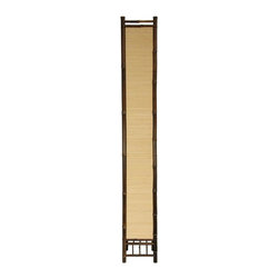 Oriental Unlimted - 5 ft. Tall Kojima Japanese Bamboo Floor Lamp - Excellent quality tall Japanese design floor lamp. An eye catching conversation piece. It's a uniquely attractive decorative accessory. This lamp is carefully wired to UL standards. Wiring and hardware are UL approved, USA sizes, standards and designs. Hand crafted using beautiful, natural, kiln dried bamboo. Lampshade is tight stitch bamboo matchstick; allows some light to pass through and between the sticks. 9.5 in. W x 9.5 in. D x 67 in. HChoosing lamps and lighting for a room is a crucial part of interior design and home decorating. Japanese style lanterns are an interesting and attractive alternative to more common floor lamps, table lamps and ceiling fixtures. Our Kojima lamps are special lamps, with a rustic, exotic, far eastern accent. If Asian style accessories appeal to you, we think you are likely to enjoy this lamp for many years to come.
