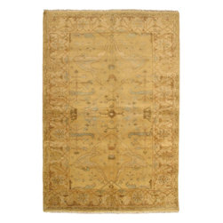 """Torabi Rugs - Hand-knotted Royal Ushak Traditional Rectangular Wool Rug 6'0"""" x 9'2"""" - An inspiring blend of classical Turkish Ushak motifs and contemporary styles. Prized for its pastel colors, artistic designs and superior craftsmanship, this rug will work well with both traditional and transitional home decors."""