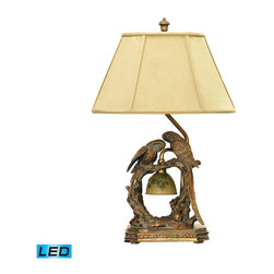 Dimond Lighting - Dimond Lighting Twin Parrots Table Lamp in Atlanta Bronze - LED Offering Up To 8 - Table Lamp in Atlanta Bronze - LED Offering Up To 800 Lumens belongs to Twin Parrots Collection by Dimond Lighting Lamp (1)