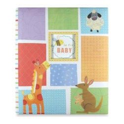 Cr Gibson - C.R. Gibson Alphabet Animals Baby Memory Books in Loose Leaf Memory Book - C.R. Gibson prides itself on helping families preserve memories. The Alphabet Animals collection features a crafty animal design atop a multi-colored quilt-like background.