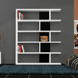 Neca Bookcase White-Black - Decortie