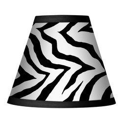 Giclee Glow - Classic Zebra Set of Four Shades 3x6x5 (Clip-On) - With the dramatic appeal of black and white, this set of 4 Classic Zebra giclee lamp shades boost the design quotient of any space. These eye-catching clip-on shades are made using the giclee print process. The giclee printing process allows for the precise reproduction of rich color. Recommended for use with 25 watt bulbs. Price is for 4 shades. U.S. Patent # 7,347,593.
