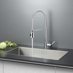 Ruvati - Ruvati RVC2306 Stainless Steel Kitchen Sink and Chrome Faucet Set - Ruvati sink and faucet combos are designed with you in mind. We have packaged one of our premium 16 gauge stainless steel sinks with one of our luxury faucets to give you the perfect combination of form and function.