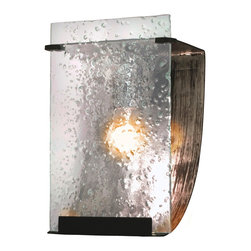 Varaluz - Varaluz 160B01 Rain Rainy Night 1 Light Bathroom Wall Sconce - Crafted Hand Forged Eco-Friendly Recycled Steel