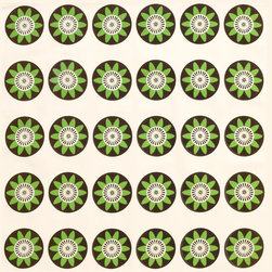 Wabisabi Green - Passion Flower Eco Napkins, Lime/Cream, 18x18 - This simple, homespun design is sure to delight dinner guests and family members alike. And knowing these napkins are made with recycled polyester, organic cotton and eco-safe inks will encourage you to use them daily.