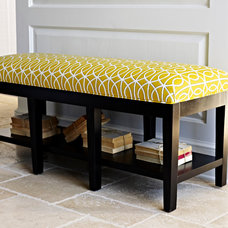 Contemporary Indoor Benches by Libby Langdon Interiors, Inc.