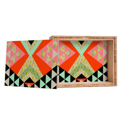 DENY Designs - Pattern State Arrow Quilt Storage Box - Love yourself a knickknack or two (or three)? Well, then this is the box for you! The Amber Bamboo wooden Storage Box is available in two sizes with a printed exterior lid and interior bottom. So, you can still be a collector of sorts, but now you've got an organized home for it all. 100% sustainable, eco-friendly flat grain amber bamboo wood box with printed glossy exterior lid and interior bottom. Custom made in the USA for every order.