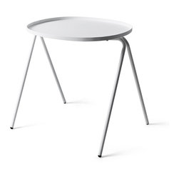 Menu - Afteroom Side Table, White - Being fans of Bauhaus and true form-following-function believers, Afteroom designed a stackable table that is just as practical and durable as it is beautiful.