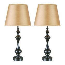 Kenroy Home - Kenroy Home 32200 Stratton II 2-Pack of Table Lamps in Oil Rubbed Bronze Finish, - Kenroy Home 32200 Stratton II 2-Pack of Table Lamps in Oil Rubbed Bronze FinishThese versatile lamps have dynamic contours and bring a bold silhouette to a highly stylized urn base. Stratton can be traditionally formal or comfortably casual.Kenroy Home 32200 Features:
