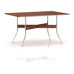 Herman Miller - Herman Miller Nelson Swag Leg Rectangular Dining Table - An icon of midcentury modern design, George Nelson created this table in 1958. Its enduring design has the scale and functionality that make it a welcome addition in today's contemporary home. Pull up one of Nelson's Swag Leg Chairs to complete the look.