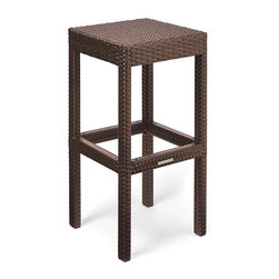 Frontgate - Palermo Backless Barstool Cover - Sand - 100% solution dyed polyester fabric. Resists mold, mildew and fading. UV colorfast up to 1,500 hours. Water-resistant fabric and a minimal number of seams guard against moisture entry. Engineered to withstand tears and abrasion. Tailor-made to fit every item in our collections, our premium furniture covers deliver an unparalleled level of protection for your Frontgate furniture. Sewn from 600-denier, solution dyed polyester fabric, these covers guard against searing sun, blinding rain and bitter cold. Engineered to resist tears and abrasions, the covers also shrug off mold, mildew, water and wind, with heavy-duty buckles that hold covers securely in place. The covers are cut and sewn to graze the ground, delivering ample coverage from top to bottom. . .  . . . In Sand and Walnut. Won't fade or crack in temperatures as high as 180 degreesF or as low as 0 degreesF. Imported.