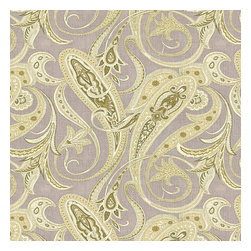 Pale Green Paisley Linen Fabric - Traditional intricate paisley in flax gray & spring green on soft pure linen.Recover your chair. Upholster a wall. Create a framed piece of art. Sew your own home accent. Whatever your decorating project, Loom's gorgeous, designer fabrics by the yard are up to the challenge!