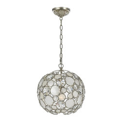 Crystorama - Crystorama 527-SA Chandelier - The Palla collection, inspired by one of Dorian Webb's bracelet designs, is more elemental in nature and natural in earth tones. Palla is Italian for sphere, and the collections standout fixture is the orb-shaped design. Palla offers two hand painted fini