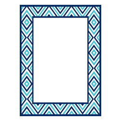WallPops - Diamond Message Board Wall Decal - Your home should make you happy! Declare your devotion to home fashion on this crisp blue diamond pattern dry-erase message board by Jonathan Adler for WallPops. Your musings are sure to look spectacular! WallPops Decals are repositionable and always removable.