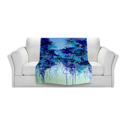 DiaNoche Designs - Fleece Throw Blanket by Julia Di Sano - Cloudy Day II - Original Artwork printed to an ultra soft fleece Blanket for a unique look and feel of your living room couch or bedroom space.  DiaNoche Designs uses images from artists all over the world to create Illuminated art, Canvas Art, Sheets, Pillows, Duvets, Blankets and many other items that you can print to.  Every purchase supports an artist!