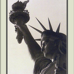 Amanti Art - Statue of Liberty Framed Print - The majestic Statue of Liberty has long been a symbol of the American Dream. Celebrate the ideals represented by Lady Liberty in your home by hanging this black and white photograph on your wall. Framed and ready to hang. Made in the USA.