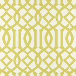 Imperial Trellis Wallpaper, Citrine - Kelly Wearstler's Imperial Trellis has been a staple for many interior designers. Its classic pattern coupled with fresh colors makes it a winner.