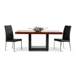 Ebony High Gloss Wood Modern Dining Table - Only for the most elegant of dining rooms, the Ebony dining table is sure to be a hit. It's beautiful hi gloss finish and pedestal base make it the center of attention.