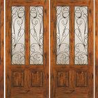 """Prehung Double Door with Two Sidelites, Entry, Alder Twin Lite - SKU#SW-92_2-2BrandAAWDoor TypeExteriorManufacturer CollectionWestern-Santa Fe Entry DoorsDoor ModelDoor MaterialWoodWoodgrainKnotty AlderVeneerPrice3942.4Door Size Options2(30"""")+2(18"""") x 80"""" (8'-0"""" x 6'-8"""")  $02(32"""")+2(18"""") x 80"""" (8'-4"""" x 6'-8"""")  $02(36"""")+2(18"""") x 80"""" (9'-0"""" x 6'-8"""")  +$202(42"""")+2(18"""") x 80"""" (10'-0"""" x 6'-8"""")  +$200Core TypeSolidDoor StyleRusticDoor Lite StyleTwin LiteDoor Panel Style2 PanelHome Style MatchingSouthwest , Log , Pueblo , WesternDoor ConstructionTrue Stile and RailPrehanging OptionsPrehungPrehung ConfigurationDouble Door with Two SidelitesDoor Thickness (Inches)1.75Glass Thickness (Inches)1/4Glass TypeSingle GlazedGlass CamingGlass FeaturesGlass StyleGlass TextureClearGlass ObscurityDoor FeaturesDoor ApprovalsDoor FinishesDoor AccessoriesWeight (lbs)1190Crating Size25"""" (w)x 108"""" (l)x 52"""" (h)Lead TimeSlab Doors: 7 daysPrehung:14 daysPrefinished, PreHung:21 daysWarranty1 Year Limited Manufacturer WarrantyHere you can download warranty PDF document."""