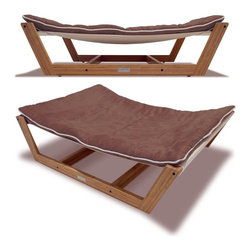 Pet Lounge Studios - Pet Lounge Studios Bambú Hammock II Chestnut Brown Medium - The Bambu Pet Hammock II offers a completely unique approach to pet beds, incorporating the hammock style design and making it completely stand out. This hammock is made from the highest quality cushion which can be washed, and a unique mattress support system for ideal comfort and luxury. The best part about this design is that it can be incorporated anywhere within your home, and your pet will love it.